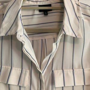Cream sleeveless shirt. NWOT